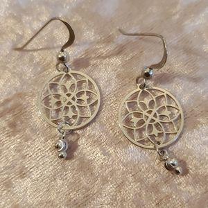 sterling silver dream catcher earrings.